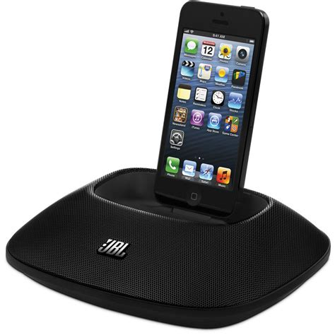 jbl onbeat micro speaker dock for iphone 5 jblonbeatmicblkam b h