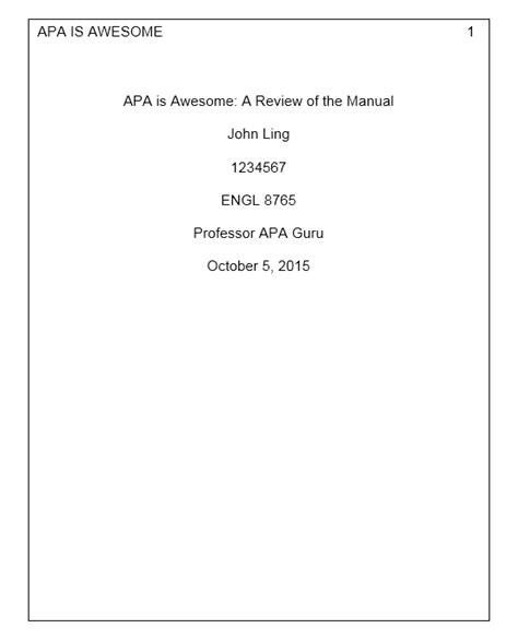 Do I List Professors Mba On Running Title Page by Paper Format Apa Conestoga