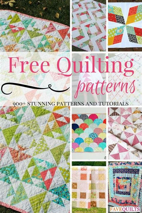 900 Free Quilting Patterns Favequilts Com How To Use Quilting Templates