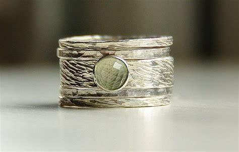 buy made rustic ring seamfoam green amethyst
