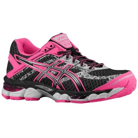 pink and black asics running shoes s asics gel cumulus 15 lite show running shoes