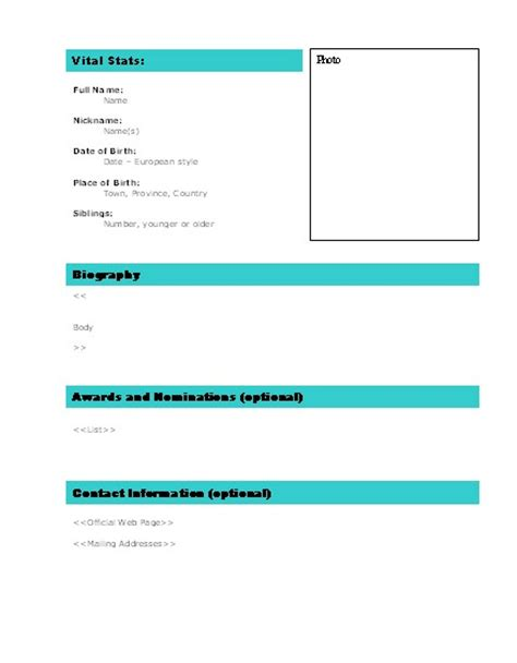 employee biography template free employee biography template pictures