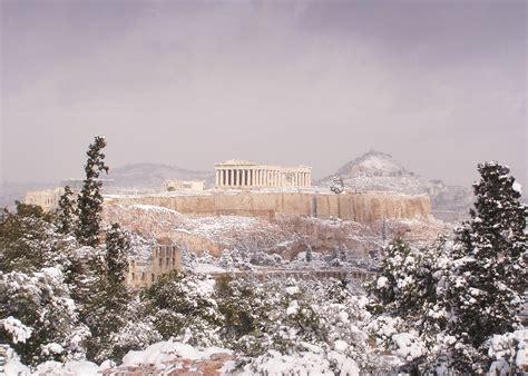 photos of snow snow in greece photos greece by a greek