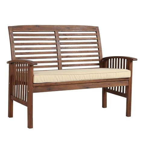 loveseat bench walker edison furniture company boardwalk 48 in dark
