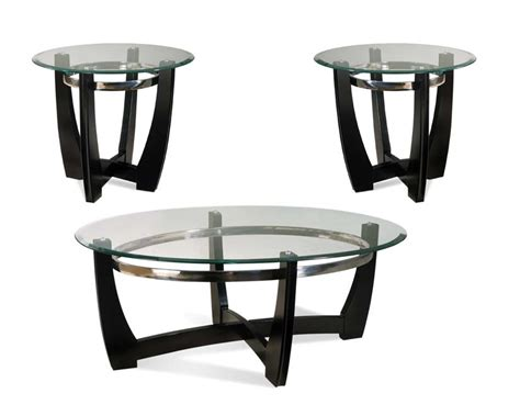 glass living room table sets matinee living room coffee table set round glass top ebay