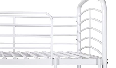 detachable bunk beds george home metal detachable bunk bed white beds