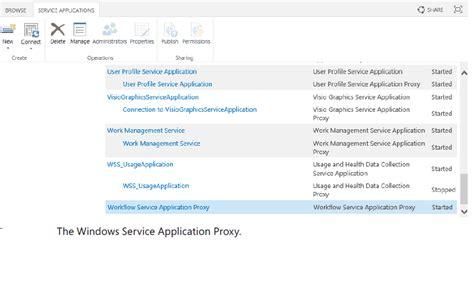 workflow service application sharepoint essentials handbook installing workflow