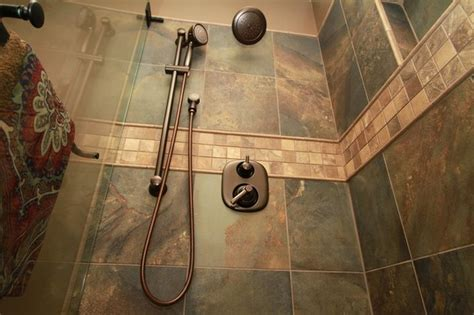 earth tone shower