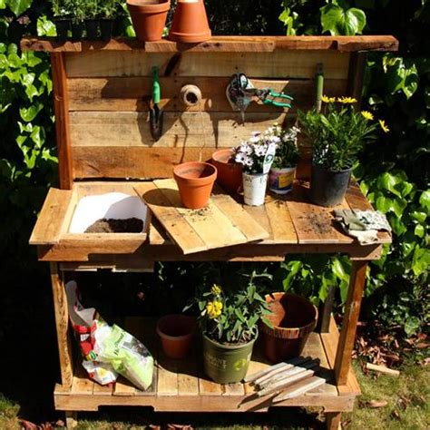 make a potting bench diy pallet potting benches pallets designs