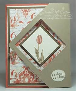 fancy fold card with square openings