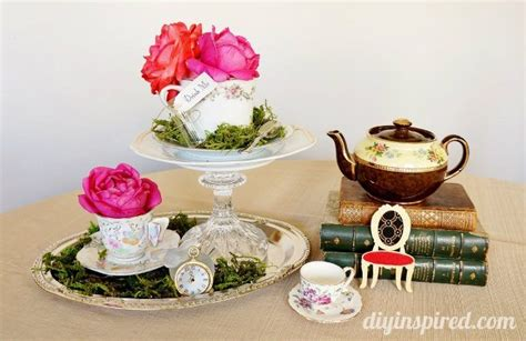 centerpieces for a tea budget vintage mad hatter tea ideas diy inspired