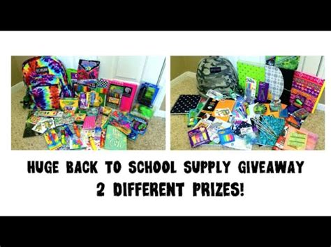 Grav3yardgirl Giveaway - huge back to school supply giveaway youtube