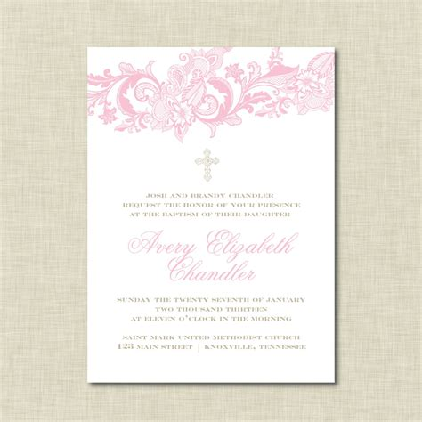 baptismal invitation template baptism invitations baptism invitations templates free