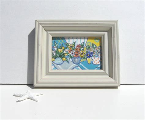 painting picture frames with acrylic custom acrylic still original painting white frame