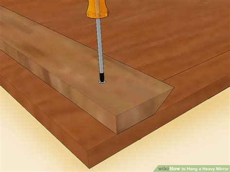Brett Unsichtbar An Wand Befestigen by How To Hang A Heavy Mirror With Pictures Wikihow