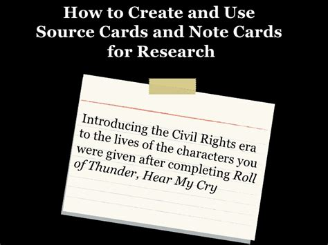 how to make source cards for a research paper note cards and source cards formal observation 2