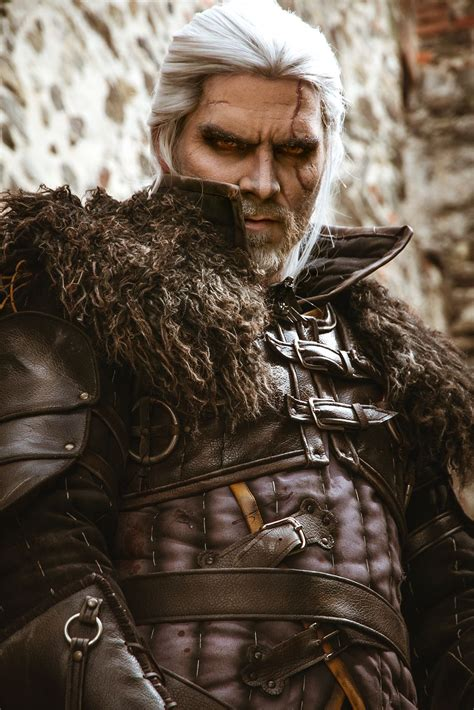 geralt of rivia comes to life with this breathtaking