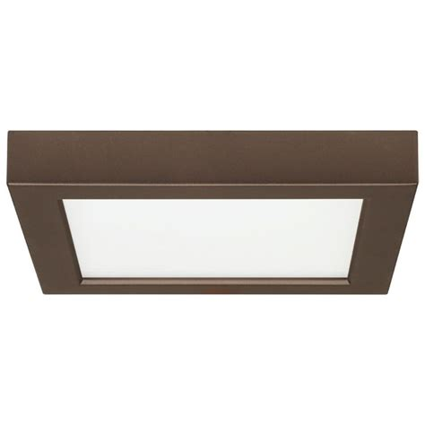 Led Low Profile Ceiling Lights 7 Inch Square Bronze Low Profile Led Flushmount Ceiling Light 2700k 8334 27 Bz Destination