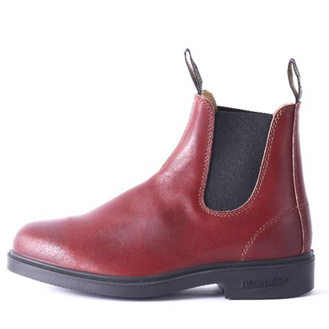 blundstone shoes blundstone burgundy rub mens ankle boots pull on leather
