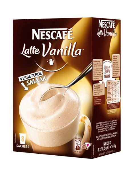 Kid Zee Vanila 350 Gram nescaf 233 sachets latte vanilla de rooij groothandel in