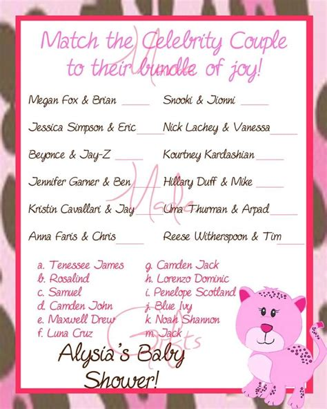 celebrity level meaning crazy quiz baby shower celebrity baby names games baby