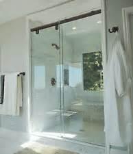 shower door frame kit crl 60 quot rubbed bronze hydroslide 180 degree standard