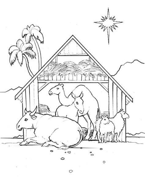 coloring pages of stable coloring pages print pictures to