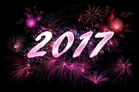 Best Number Lookup 2017 2017 New Year Fireworks In Violet Colors Stock Photo Colourbox