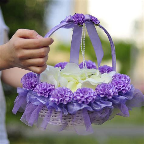 Flower Wedding Baskets by 2 Pcs Wedding Flower Basket Bridesmaid Wedding Basket