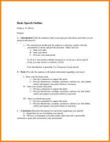 Informative Speech Outline Template by 12 Informative Speech Outline Template Letter Format For