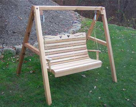 porch swing plans with stand creekvine designs cedar wood royal hearts porch swing with