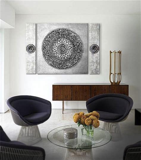 imagenes cuadros zen estudio delier mandala zen triptico 140x100 cm