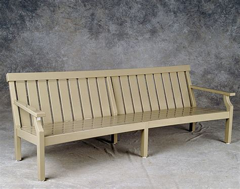 unique benches and settees custom casual settee weatherend