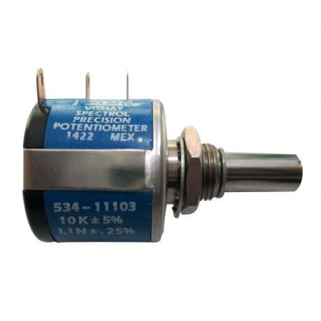 resistor variabel 10k multiturn potentiometer 10k 10 putaran digiware store