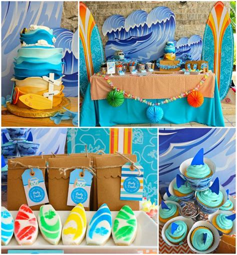 Kara's Party Ideas Surf Shack Birthday Party Planning Ideas Supplies Idea Pool Party