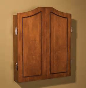 classic dart board cabinet wood material smooth brown wall