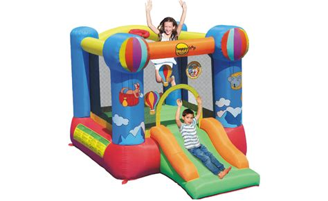 Happy Hop 9004b Air Baloon Hoop Bouncer Jump 1 happy hop air balloon slide and hoop bouncer