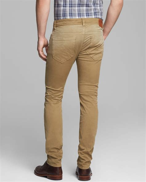 S Denim Bronzee Slim Fit Biru diesel thavar slim fit in in brown for lyst
