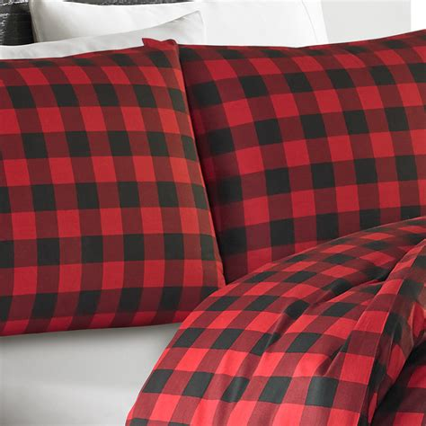 Plaid Comforter by Eddie Bauer Mountain Plaid Scarlet Comforter And Duvet Set