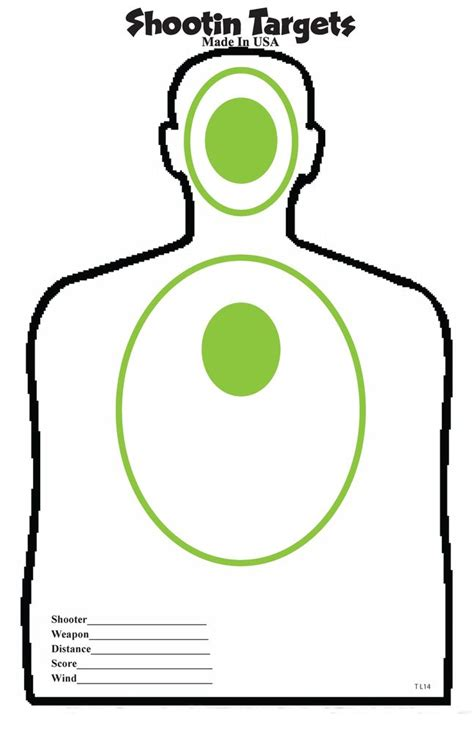 printable 11x17 targets 50 green black silhouette hand gun and rifle paper
