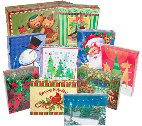 qvc christmas packaging set of 10 apparel size gift boxes page 1 qvc