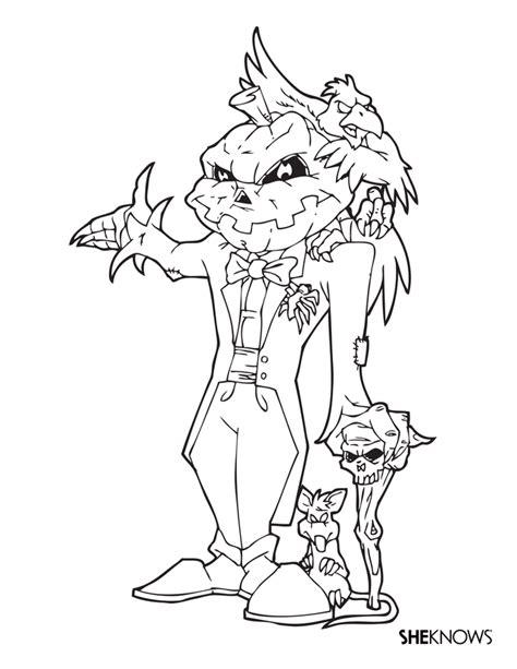 Evil Coloring Pages coloring pages evil pumpkinhead