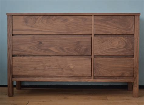 walnut drawers bedroom walnut chest 6 drawer chest natural bed company