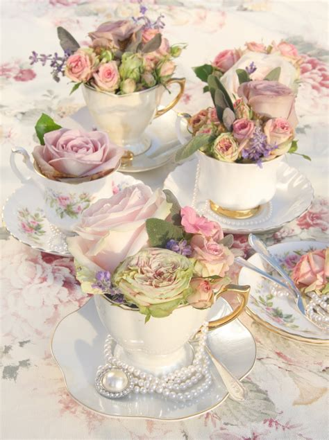 Tea Cup Decorations by Is What You Bake It Vintage Cake Cupcakes Tea Cups
