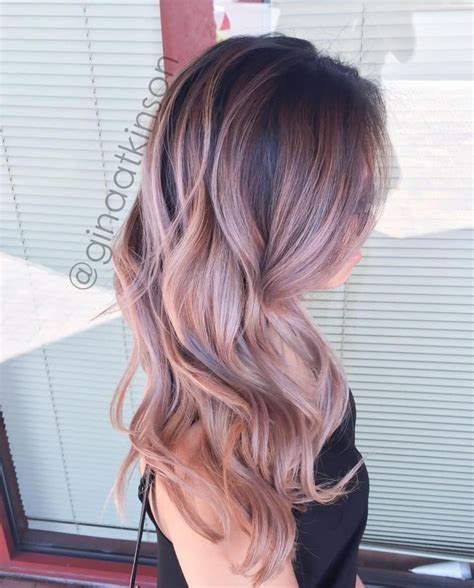 Ombre Hair Clip Dusty Pink gold balayage hair