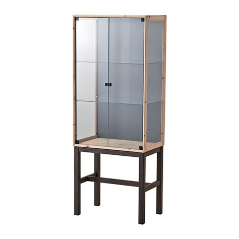 glass door cabinet norn 196 s glass door cabinet with 2 doors ikea