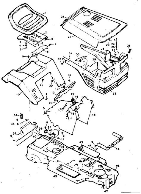 sears lawn tractor parts diagram craftsman sears 11 h p lawn tractor parts model