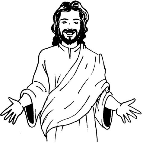 Picture Of Jesus Coloring Page