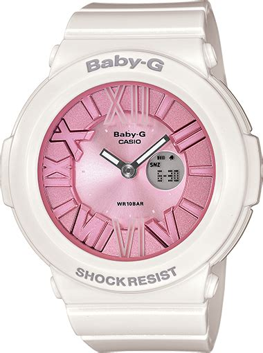 G Shock Baby G Bga 120 Pink Soft by Bga161 7b2 Baby G White Womens Watches Casio Baby G