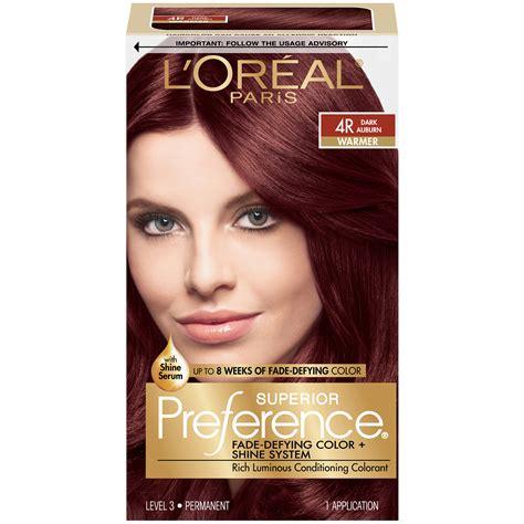 4r hair color l oreal 4r warmer auburn hair color 1 kt box